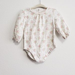 Janie & Jack Floral Print Onesie, 3-6 months